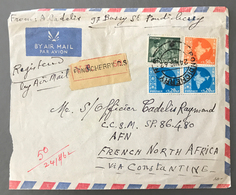 Inde, Lettre Recommandée De Pondichery Pour Constantine (Algérie) 24 Aout 1962 - (W1416) - Covers & Documents