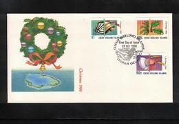 Cocos ( Keeling) Islands 1986 Christmas FDC - Kokosinseln (Keeling Islands)