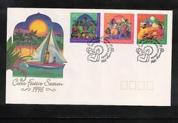 Cocos ( Keeling) Islands 1996 Festive Season FDC - Kokosinseln (Keeling Islands)