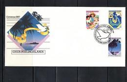 Cocos ( Keeling) Islands 1987 Christmas FDC - Kokosinseln (Keeling Islands)