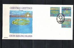 Cocos ( Keeling) Islands 1990 Christmas FDC - Kokosinseln (Keeling Islands)