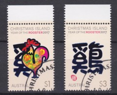 Christmas Island 2017 Year Of The Rooster Set Of 2 CTO - Christmas Island