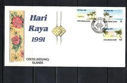 Cocos ( Keeling) Islands 1991 Hari Raya FDC - Kokosinseln (Keeling Islands)