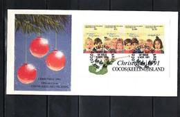 Cocos ( Keeling) Islands 1991 Christmas FDC - Kokosinseln (Keeling Islands)