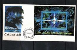 Cocos ( Keeling) Islands 1985 Christmas FDC - Kokosinseln (Keeling Islands)