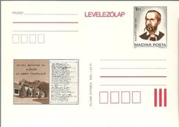3327c Hungary Postcard Culture Literature Writer Art Theatre Writer Madach Unused - Writers