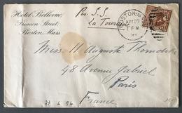 """USA - Lettre De Boston Pour Paris 1894 - Transatlantic """"par S.S. La Touraine"""" - (W1421) - Covers & Documents"""
