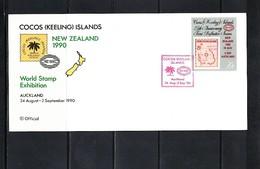 Cocos ( Keeling) Islands 1990 World Stamp Exibition FDC - Kokosinseln (Keeling Islands)