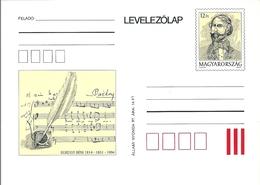 3329b Hungary Postcard Art Music Score Egressy Composer Unused - Famous People