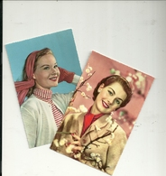 DONNE--LOTTO 2  CARTOLINE  MISTE    ANNI  50 - Cartoline
