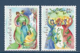 Nations Unies New York - YT N° 1036 Et 1037 - Neuf Sans Charnière - 2007 - New York – UN Headquarters