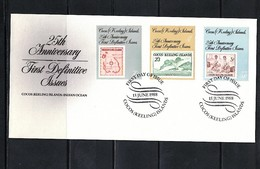 Cocos ( Keeling) Islands 1988 Anniversary Of The First Definive Issues FDC - Kokosinseln (Keeling Islands)