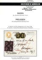 BADEN + PREUSSEN Teil 2 - Spezialauktion Köhler 1995 - Preussen