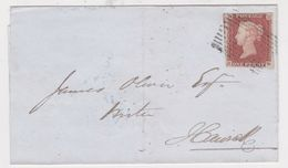 Great Britain-1848 1d Red On White Paper Jedburgh, Scotland Cover To Hawick - 1840-1901 (Victoria)