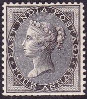INDIA 1856 QV 4 Anna Black SG45 MH - 1882-1901 Empire