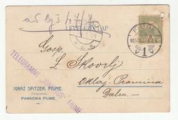 Ignatz Spitzer, Fiume 2 Company Postcards Travelled 1904/05 To Oklaj B190601 - Croatia