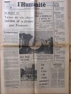 Journal L'Humanité (16 Sept 1972) Budget - Sommet Des Dix - Vote à 18 Ans - Gabriel Aranda - - Newspapers