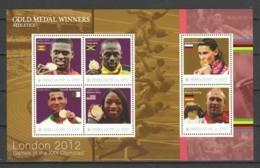 Sierra Leone - Sheet 3 MNH SUMMER OLYMPICS LONDON 2012 - Zomer 2012: Londen