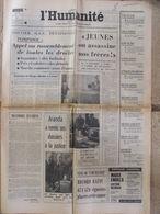 Journal L'Humanité (22 Sept 1972) Tension Pays Basque - Aranda - Sicob - L'artisan Montagnard Au Crêt - Newspapers