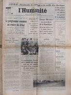 Journal L'Humanité (6 Oct 1972) Ceyrac - Programme Commun - Evry Des Femmes Parlent - Annie Cordy - Salon - Newspapers
