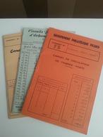 LOT N° 662 COLONIES FRANCAISE Un Lot De 3 Carnets De Circulation . - Verzamelingen (in Albums)