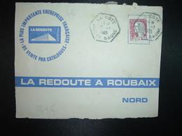 DEVANT TP M. DE DECARIS 0,25 OBL. HEXAGONALE Tiretée 15-1 1965 LA COTE HAUTE SAONE (70) - Marcophilie (Lettres)