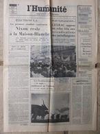 Journal L'Humanité (8 Nov 1972) Nixon/maison Blanche - Ceyrac - Fauqueux - Claude Sautet - H Pagani - Newspapers