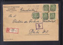 Dt. Reich R-Brief 1922 Halle Kaliwerk Krügershall - Covers & Documents