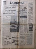 Journal L'Humanité (7 Nov 1972) Programme Commun - Fauqueux - URSS A 50 Ans - Nixon - Newspapers