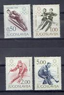 Yougoslavie Série Sport 1139-1142 ** - MNH - Jeux Olympique D'Hiver Grenoble 1968 - Neufs