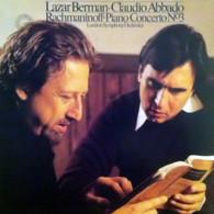 * LP * RACHMANINOFF : PIANO CONCERTO No.3 - LAZAR BERMAN & CLAUDIO ABBADO + LONDON SYMPHONY ORCHESTRA - Klassiekers