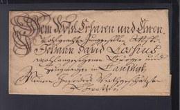 Schnörkelbrief 1766 - Allemagne