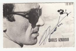 Charles Aznavour Autographed Photo B190601 - Muziek En Musicus