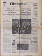 """Journal L'Humanité (31 Oct 1972) Salaire Minimum - Moyen Orient - Lacq - Lorraine - """"Le Milieu"""" - - Newspapers"""