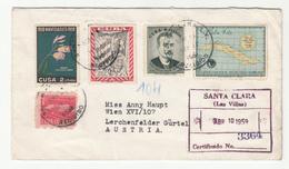 Graciela Reyes Santa Clara Company Letter Cover Travelled Registered 1959 To Austria B190601 - Cuba