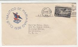 Club Nautico De Mariana Company Letter Cover Travelled 1946 To Beverly Hills USA B190601 - Cuba