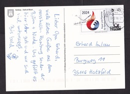 Germany: Picture Postcard, 2016, Personalized Stamp, Fire & Flame Games Hamburg, Briefmarke Individuell (traces Of Use) - [7] West-Duitsland