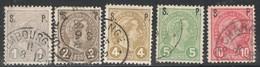 Luxemburg Yvert/Prifix Service Oblit. 77/81 Papier Mince TB Sans Défaut Cote EUR 60 (numéro Du Lot 472OL) - Officials