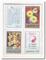Joegoslavië 1990, Postfris MNH, Macedonian Red Cross, Flowers - Liefdadigheid