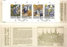 Sweden Sverige 1986 Stamp Booklet Cancelled Post Office Traveling Postterminal - Post