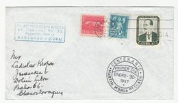 Cuba Martiin Morua Delgado FDC Travelled 1957 To Prague B190601 - FDC