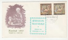 Cuba Christmas 1957 FDC B190601 - FDC