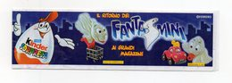 KINDER - 2001 - Cartina Serie FANTASMINI Ai Magazzini - (FDC15622) - Istruzioni