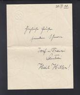 Dt. Reich Brief 1938 Hakenkreuz - Historische Dokumente