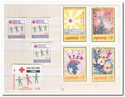 Joegoslavië 1991, Postfris MNH, Red Cross, Flowers - Liefdadigheid