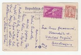 Cuba Habana, Entrada Al Puerto Anfiteatro Old Postcard Travelled 1962 To Czechoslovakia B190601 - Cuba
