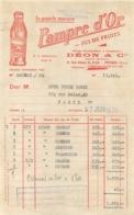FACTURE 1950  PAMPRE D'OR ETS DEON ET CIE RUE ROQUE DE FILLOL PUTEAUX - 1950 - ...