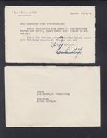 Dt. Reich Brief Hans Hermannsdörfer Bayreuth 1940 - Autogramme & Autographen