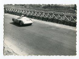 FOTOGRAFIA ORIGINALE MILLE MIGLIA  ECURIE LA MEUTE HEINZ SCHILLER PORSCHE 550 RS N° 354 12 MAGGIO ANNO 1957 - Sport