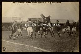 TOP RUGBY - ASC CARCASSONNE VS STADE TOULOUSAIN - DEMI FINALE 05/04/1925 - LUBIN LEBRERE SAUTE A LA TOUCHE - Rugby